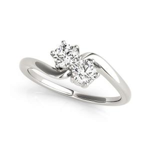1/4 Ct Tw Unique Two Stone Engagement Ring