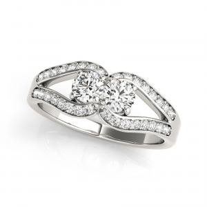 3/4 Ct T.w. Forever Two Stone Diamond Ring