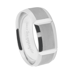 Rectangle Cut Wedding Band