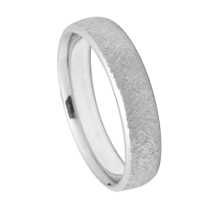 Wire Brush Finish Wedding Band