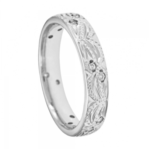 Floral Design Wedding Band