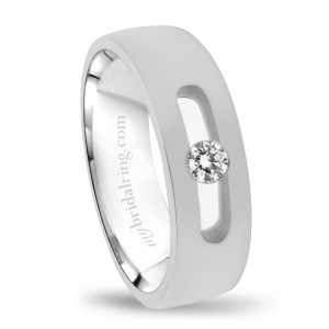 Tension Set Diamond Wedding Band