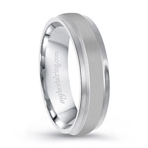 Brush Finish Milgrain Wedding Band