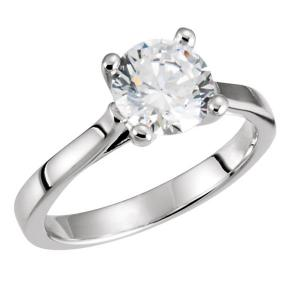 Classic Solitaire Round Diamond Engagement Ring