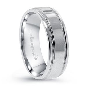 Double Milgrain Comfort Wedding Band
