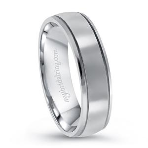 Dual Groove Men's Engagement Band