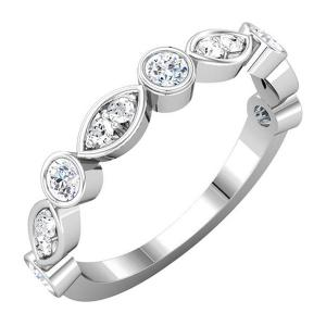 Ladies Round Diamond Anniversary Band