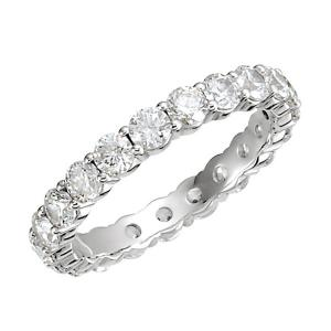 Ladies Round Diamond Eternity Band