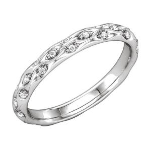 Ladies Round Diamond Sculptural Eternity Band
