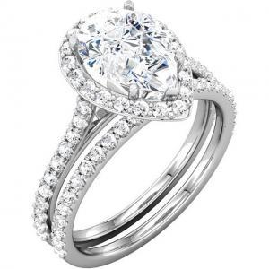 Pear-Shape Diamond Halo-Styled Pear-Shape Bridal Set