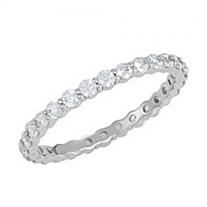 Petite Pave Diamond Eternity Ring