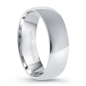 Plain Comfort Fit Wedding Ring In 14K White Gold