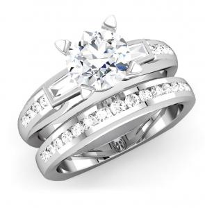 ROUND DIAMOND BRIDAL SET