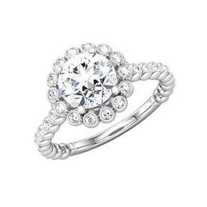 ROUND DIAMOND SEMI-MOUNT BRIDAL SET