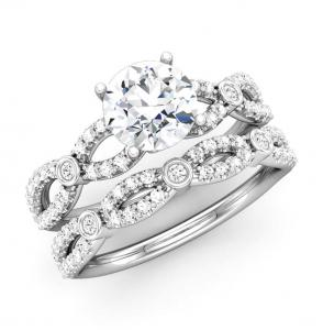 ROUND DIAMOND SEMI-MOUNT BRIDAL SET