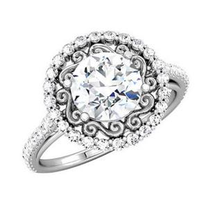 ROUND DIAMOND SEMI-MOUNT ENGAGEMENT RING