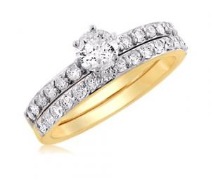 Round Shape Diamond Wedding Ring