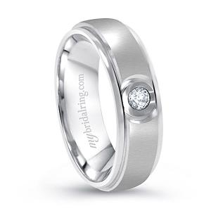Round Shape Men's Solitaitre Wedding Band