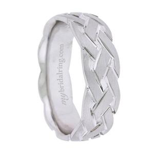 Tire Tread Line Wedding Band
