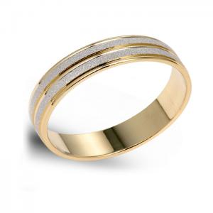 Simple, Two-Tone Gold Wedding Band