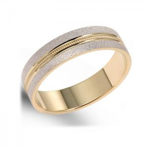 Unique, Two-Tone Ring For Men