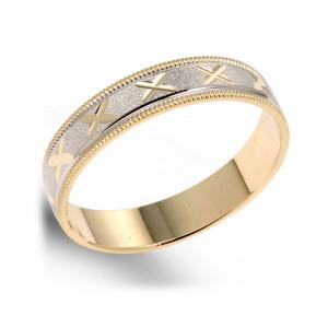 X-Pattern Men's Wedding Ring
