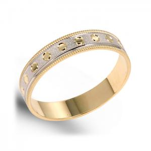 Circle-Pattern Wedding Ring For Men