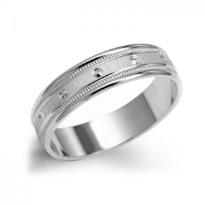 Men's White Gold Wedding Ring