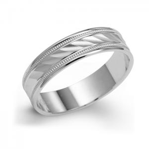 Curved Wedding Band For Him