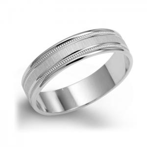 Classic Men's Wedding Ring With Milgrain