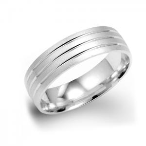 Grooved Wedding Ring For Men